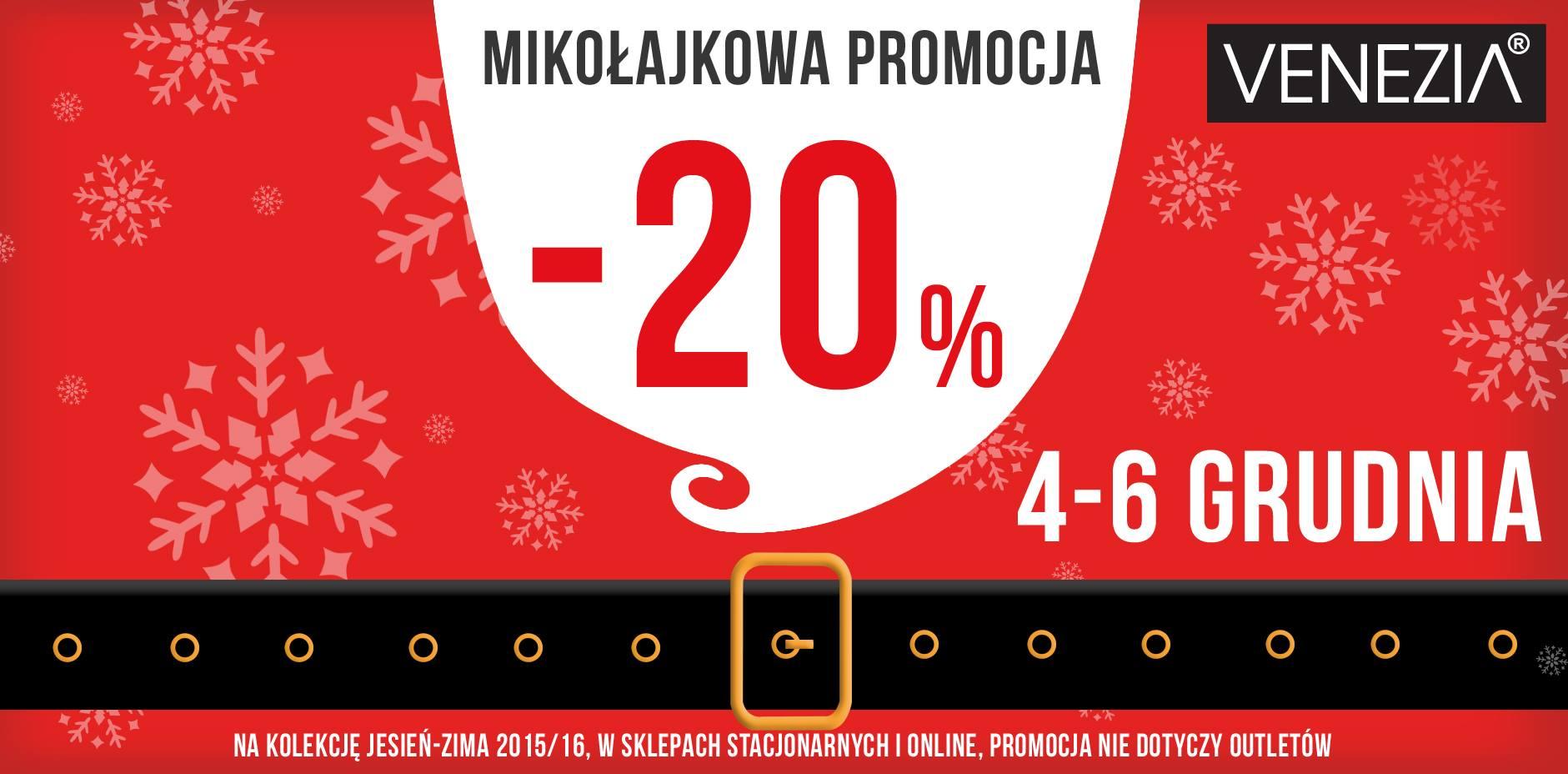 Venezia: 20% promocja na kolekcję jesień-zima 2015/16