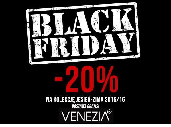 Black Friday w Venezia: 20% zniżki na zakupy
