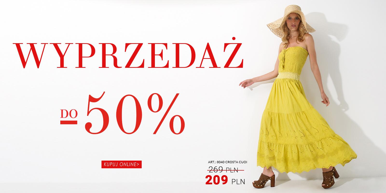 Venezia: wyprzedaż do 50% rabatu na obuwie damskie, męskie, torby damskie oraz kurtki damskie