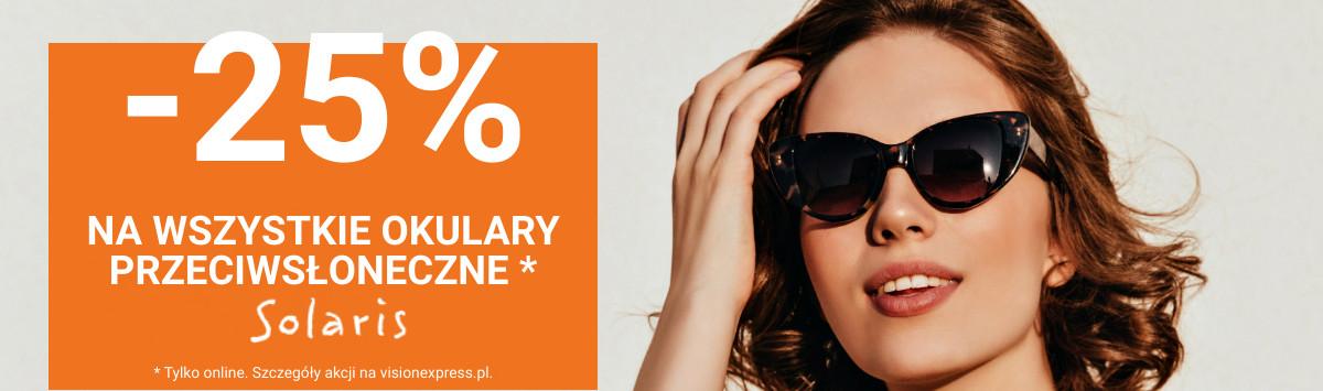 Vision Express: 25% rabatu na wszystkie okulary przeciwsłoneczne Solaris
