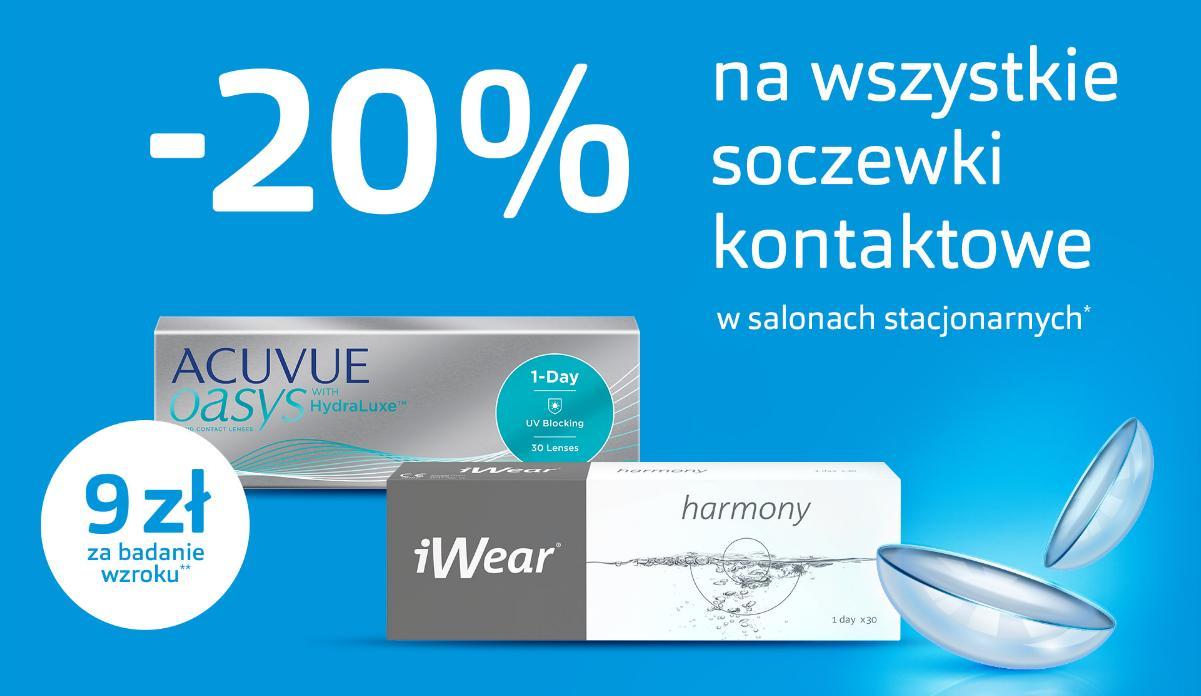Vision Express: 20% zniżki na wszystkie soczewki kontaktowe