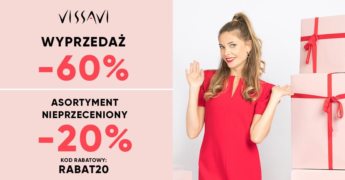 Vissavi: wyprzedaż 60% rabatu na elegancką odzież damską