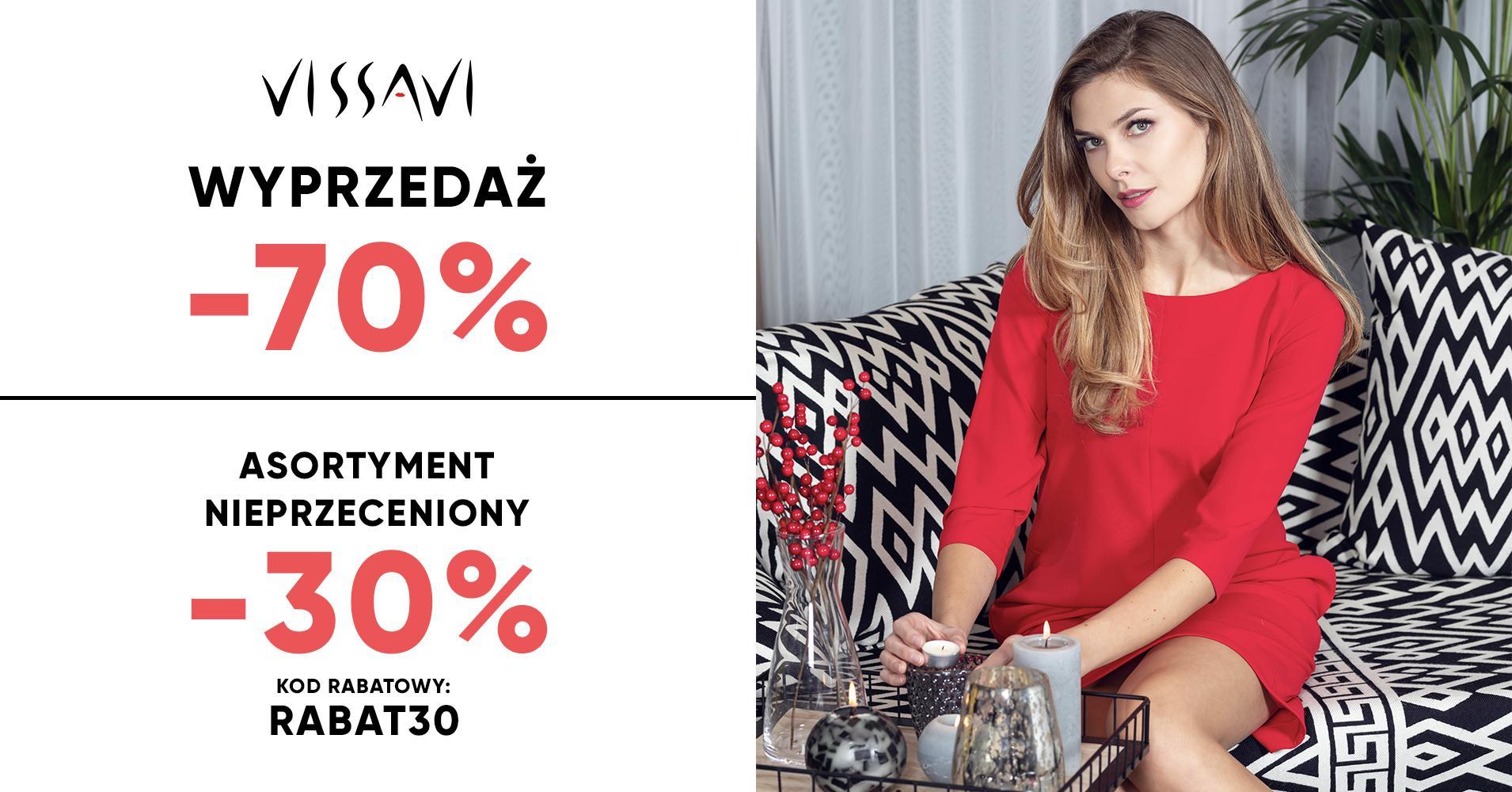 Vissavi: wyprzedaż 70% rabatu na elegancką odzież damską
