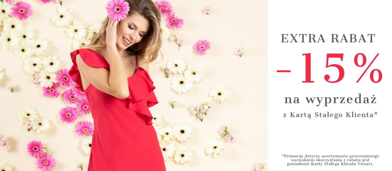 Vissavi: extra 15% zniżki na produkty z wyprzedaży - odzież damska