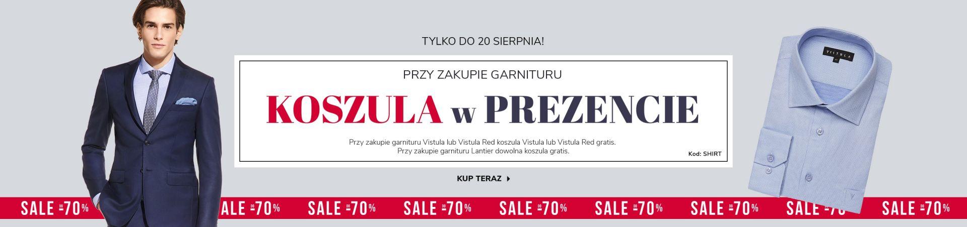 Vistula: przy zakupie garnituru koszula w prezencie  bKC5S