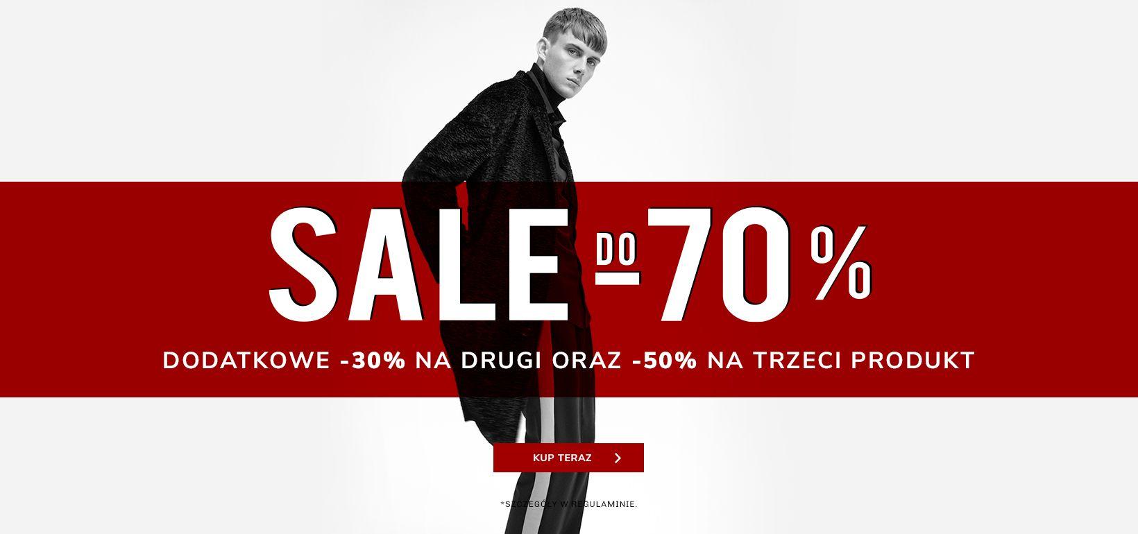 Vistula: wyprzedaż do 70% rabatu na odzież męską oraz dodatkowe 30% na drugą rzecz i 50% na trzecią rzecz