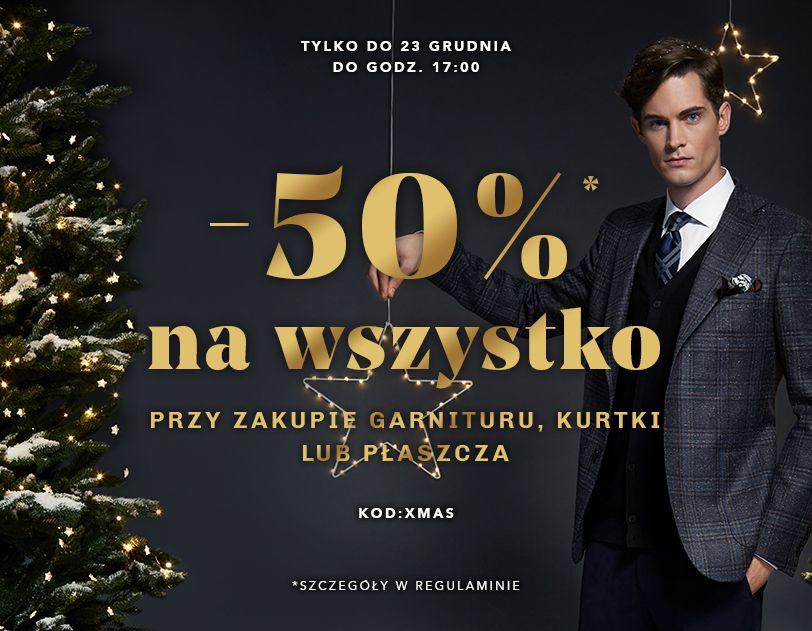 Vistula Vistula: 50% zniżki na cały asortyment przy zakupie garnituru, kurtki lub płaszcza