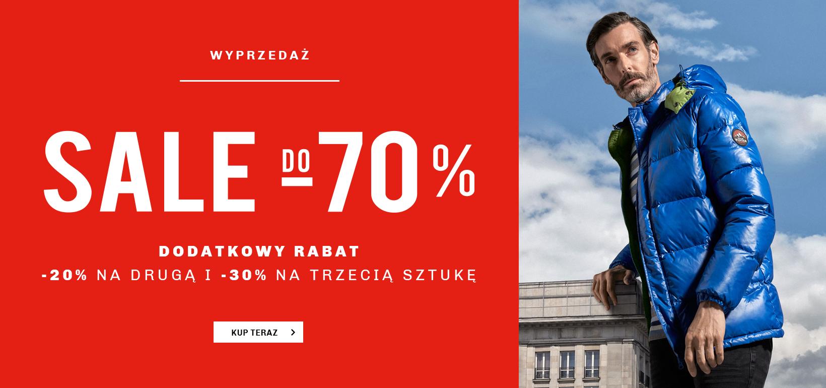 Vistula: dodatkowe 20% zniżki na drugą sztukę i dodatkowe 30% zniżki na trzecią sztukę odzieży z wyprzedaży