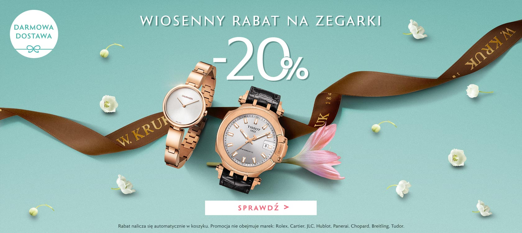 W.Kruk: 20% rabatu na zegarki damskie i męskie