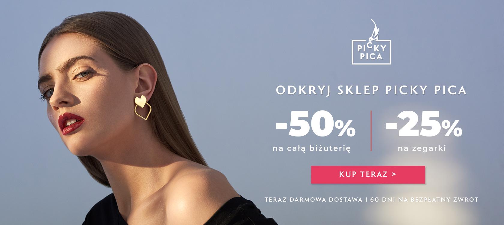 W.Kruk: 50% rabatu na całą biżuterię Picky Pica i i 25% rabatu na zegarki