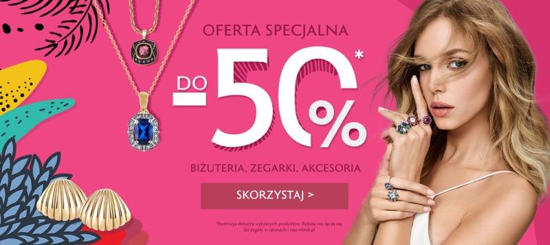 W.Kruk: do 50% zniżki na biżuterię, zegarki i akcesoria