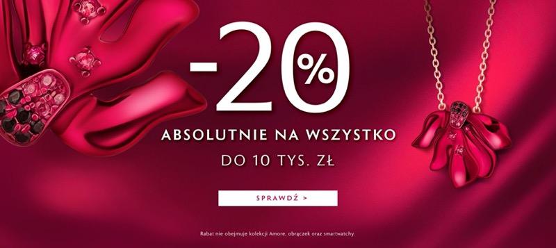 W.Kruk: 20% rabatu na biżuterię, zegarki i akcesoria