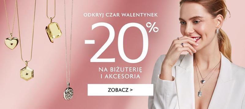 W.Kruk: Walentynkowa promocja 20% zniżki na biżuterię i akcesoria