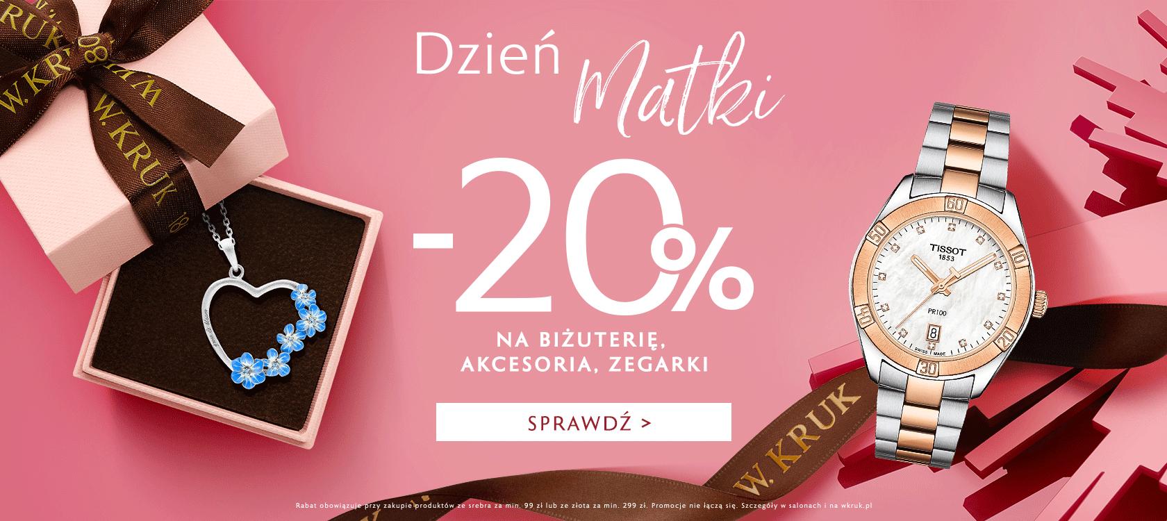W.Kruk: 20% rabatu na biżuterię, akcesoria i zegarki na Dzień Matki