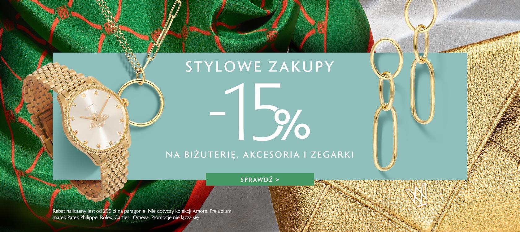 W.Kruk W.Kruk: Stylowe Zakupy 15% rabatu na biżuterię, zegarki i akcesoria
