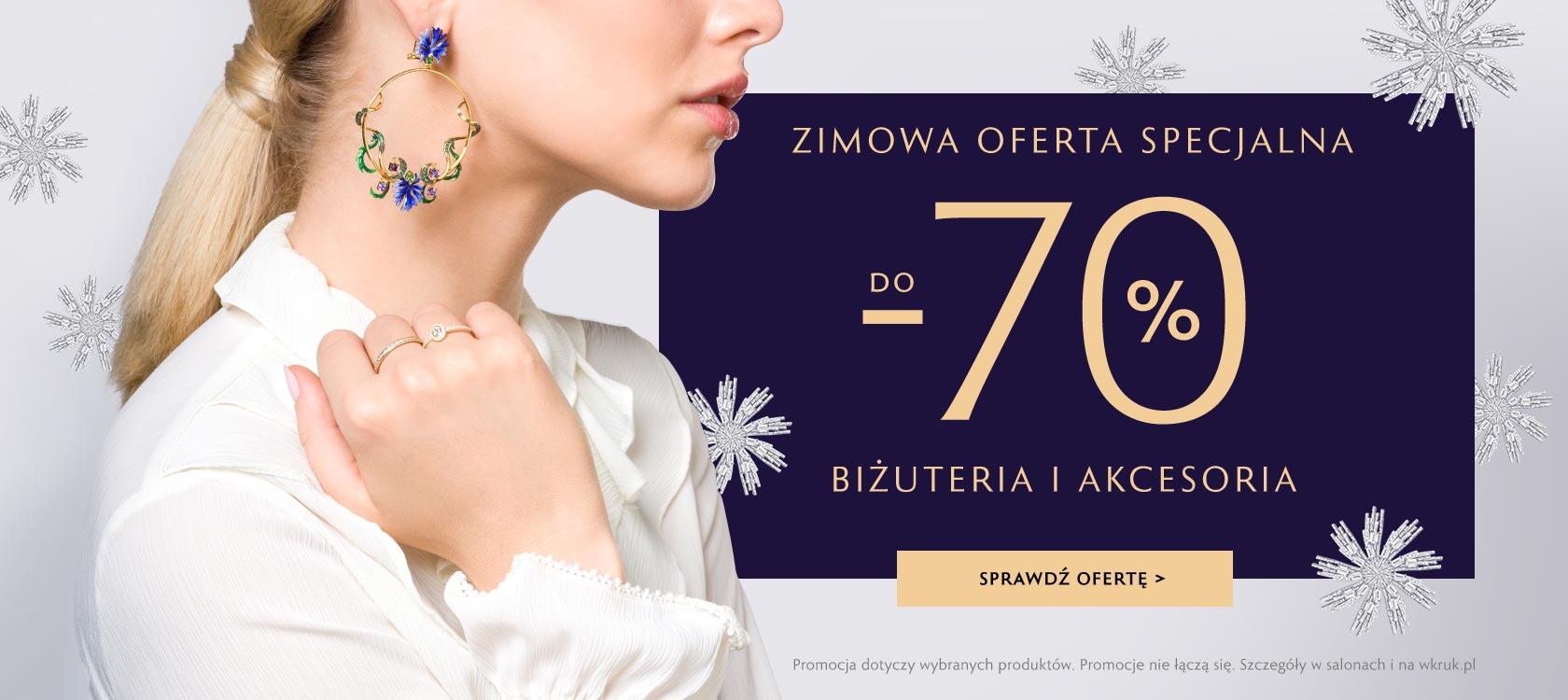 W.Kruk: do 70% zniżki na wybraną biżuterię oraz akcesoria
