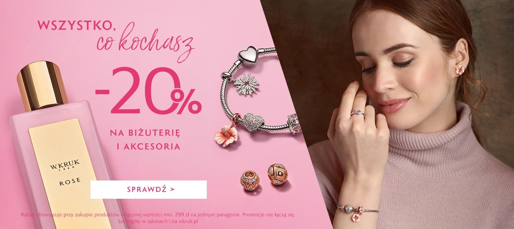 W.Kruk W.Kruk: 20% zniżki na biżuterię i akcesoria przy zakupach za min. 299 zł