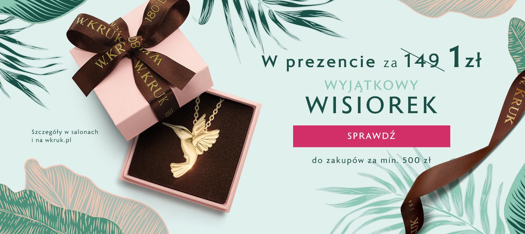 W.Kruk W.Kruk: zrób zakupy za min. 500 zł, a wisiorek o wartości 149 zł otrzymacie za 1 zł