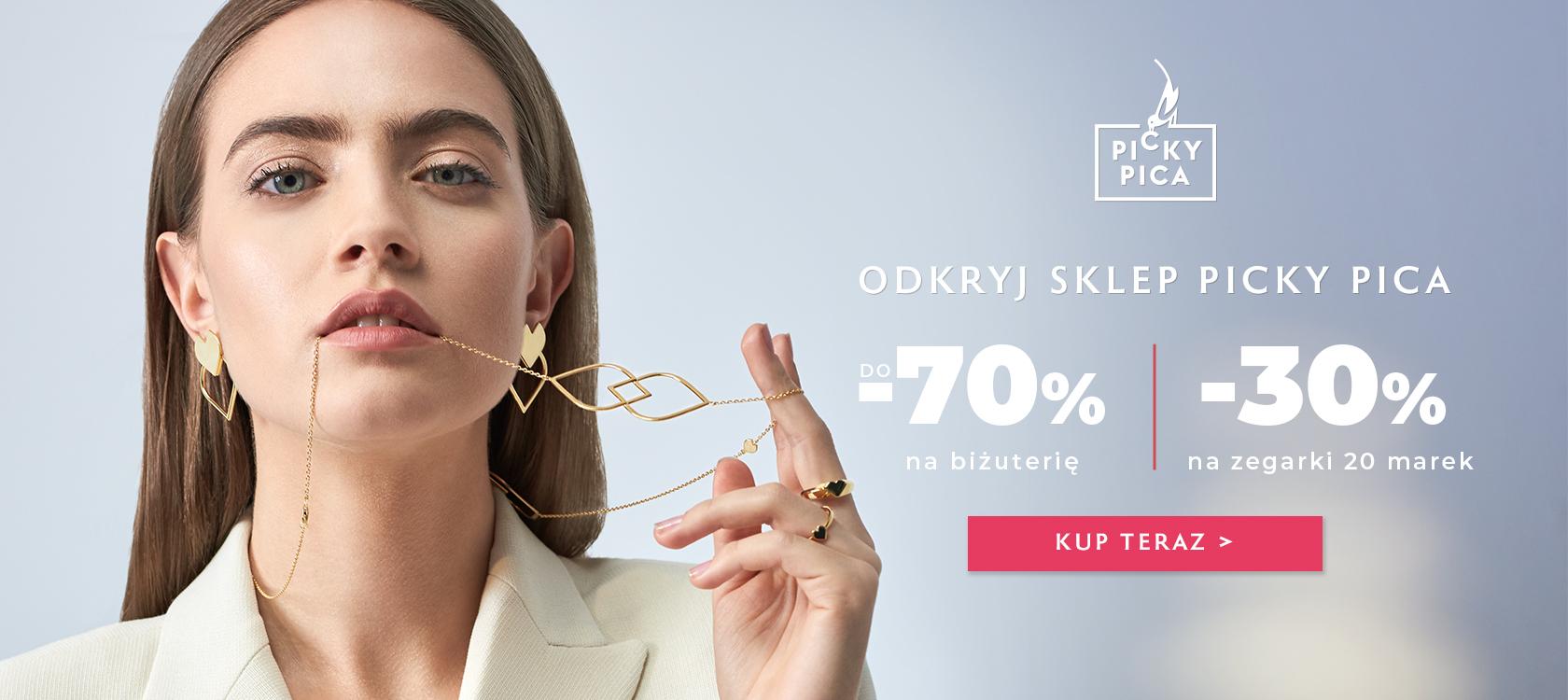 Picky Pica: do 70% rabatu na biżuterię oraz 30% zniżki na zegarki 20 marek