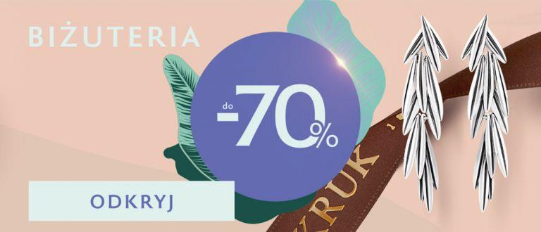 W.Kruk W.Kruk: do 70% rabatu na biżuterię - letnia oferta specjalna