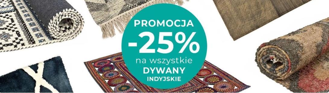 Witek Home Witek Home: 25% rabatu na dywany indyjskie