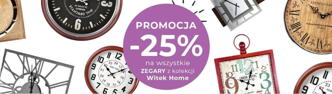 Witek Home: 25% rabatu na wszystkie zegary z kolekcji Witek Home