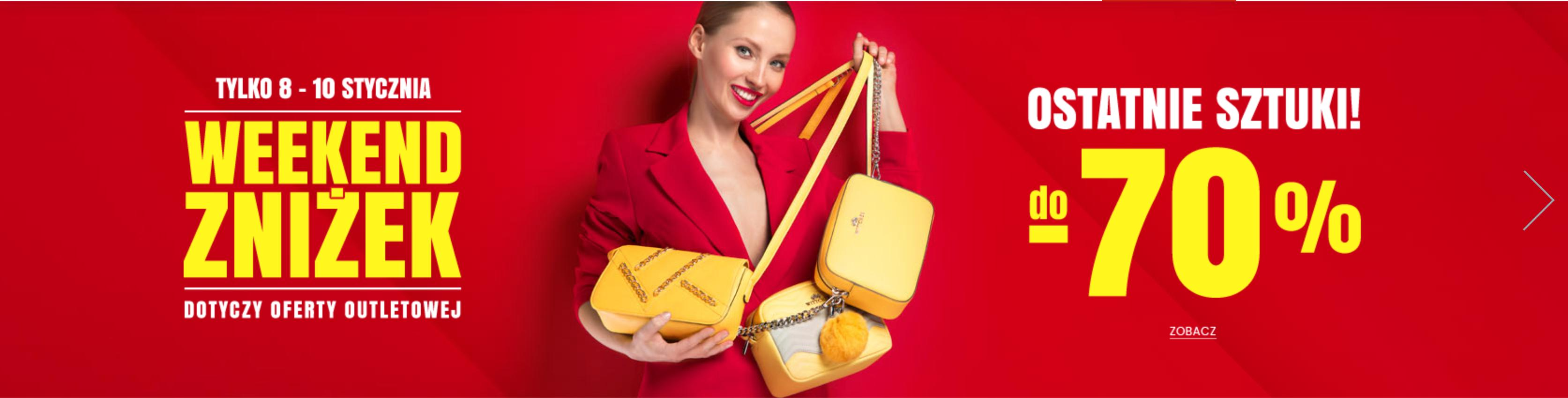 Wittchen: Weekend Zniżek do 70% rabatu na ostatnie sztuki walizek, odzieży i galanterii skórzanej