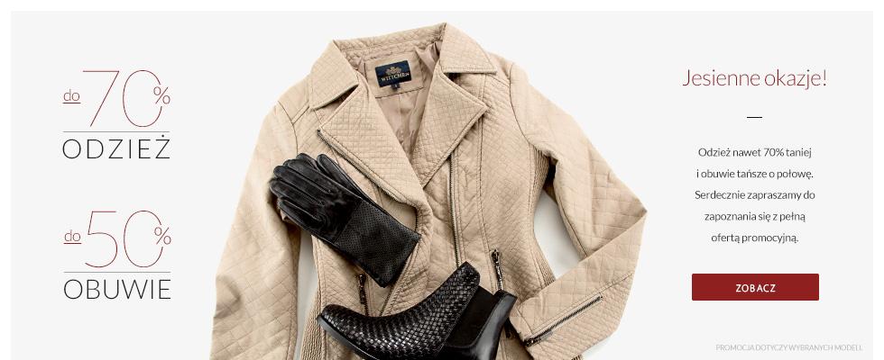 Wittchen: do 70% zniżki na odzież, do 50% zniżki na obuwie
