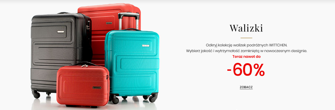 Wittchen: do 60% zniżki na walizki podróżne                         title=