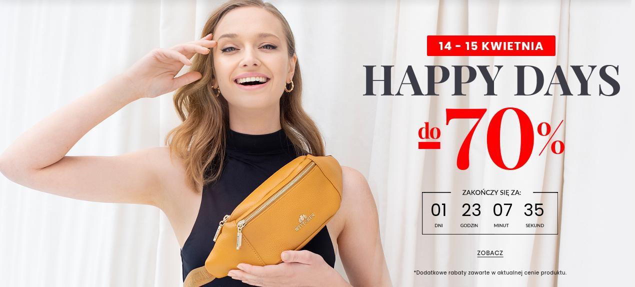 Wittchen: do 70% zniżki na torby, odzież, obuwie, bagaż, galanterię skórzaną - Happy Days