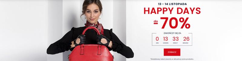 Wittchen: Happy Days do 70% zniżki na walizki, torby i galanterię skórzaną