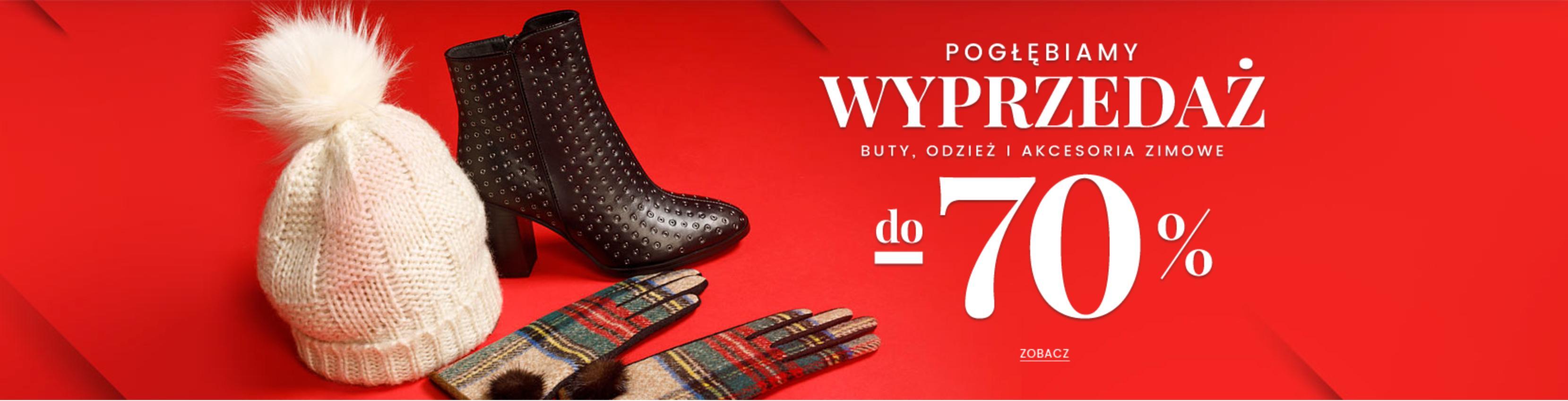 Wittchen: pogłębienie wyprzedaży do 70% zniżki na buty, odzież i akcesoria zimowe