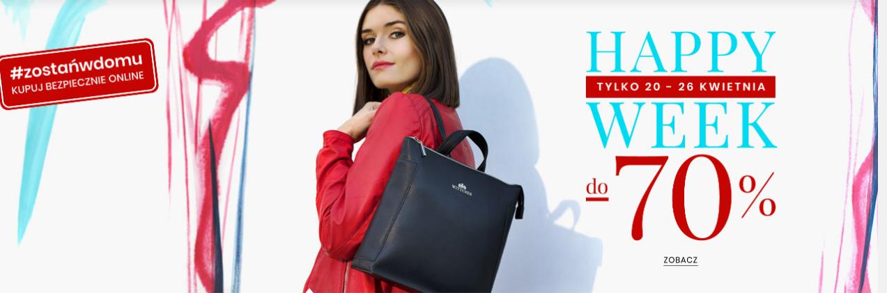 Wittchen: Happy Week do 70% rabatu na torby, torebki, bagaż, galanterię skórzaną
