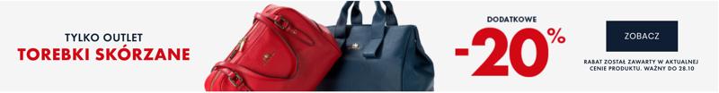 Wittchen: 20% zniżki na torebki skórzane z kolekcji Outlet