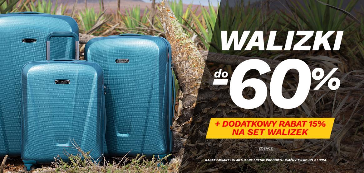 Wittchen: wyprzedaż do 60% zniżki na walizki + 15% zniżki na set walizek