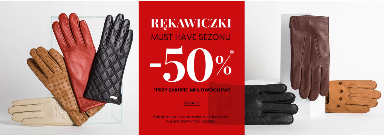 Wittchen: 50% rabatu przy zakupie min. 2 par rękawiczek