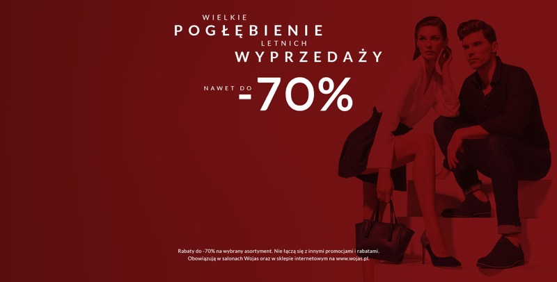 Wojas: wyprzedaż do 70% rabatu na obuwie damskie i męskie