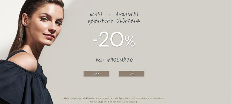 Wojas: 20% rabatu na botki, trzewiki i galanterię skórzaną