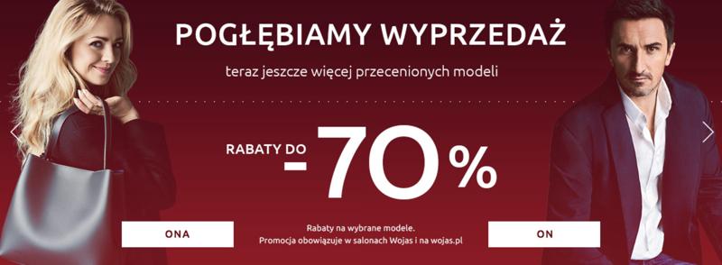 Wojas: wyprzedaż do 70% zniżki na obuwie damskie i męskie