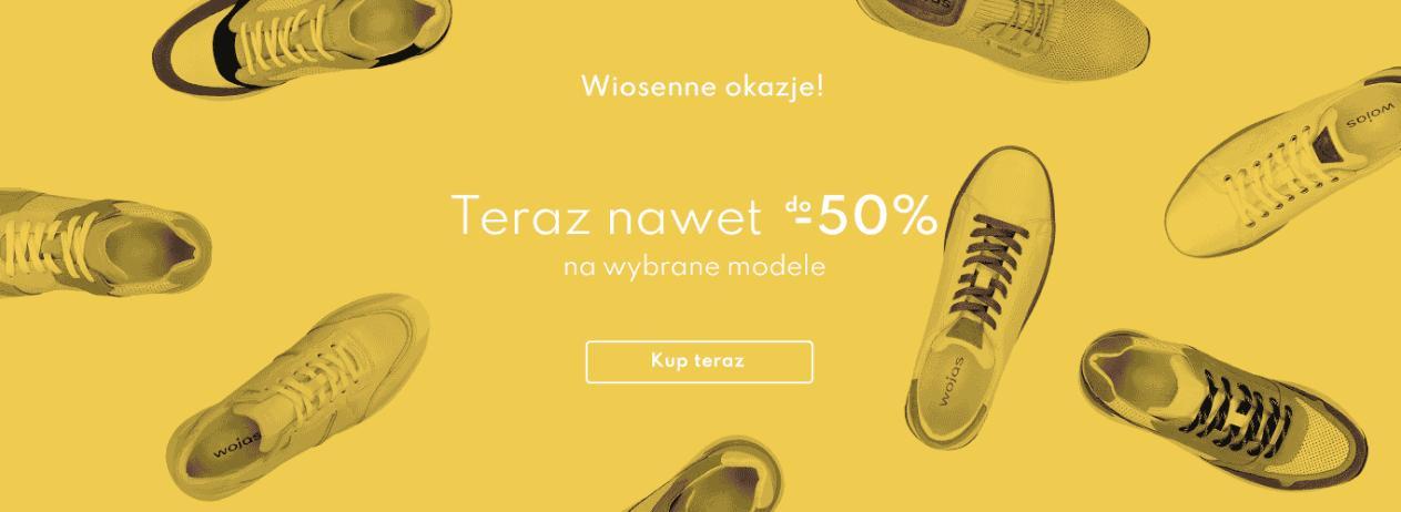 Wojas: do 50% rabatu na wybrane modele obuwia - wiosenne okazje