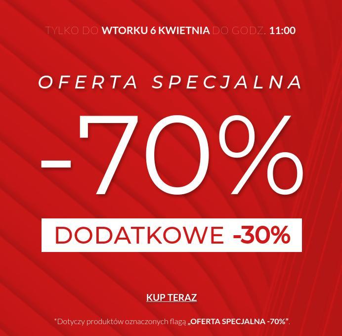 Wólczanka: dodatkowe 30% zniżki na asortyment z oferty specjalnej 70% zniżki