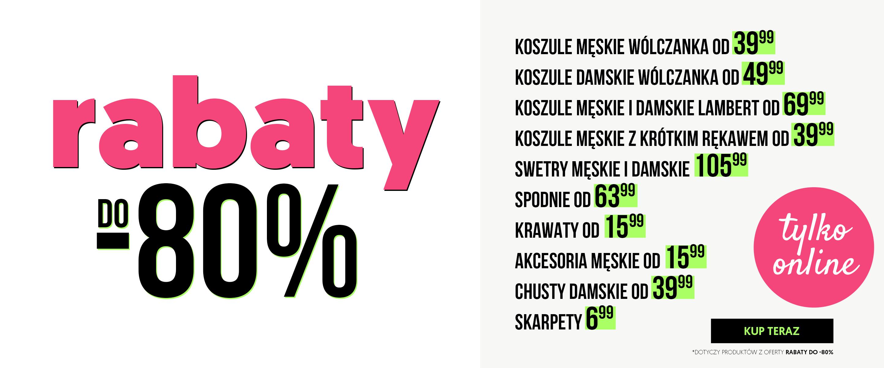 Wólczanka: do 80% rabatu na koszule, swetry, spodnie, krawaty, chusty, skarpety i akcesoria