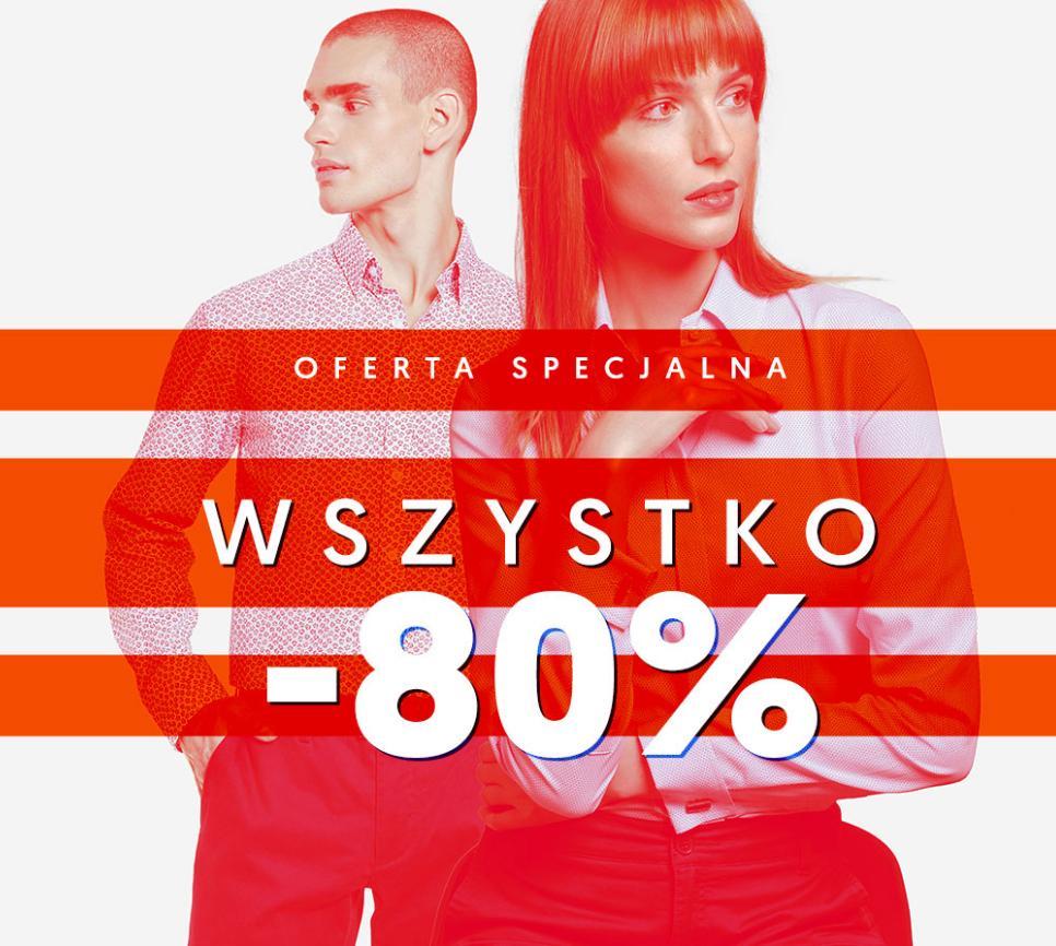 """Wólczanka: 80% zniżki na wybrane koszule męskie i damskie oraz akcesoria - produkty oznaczone """"Wszystko -80%"""""""