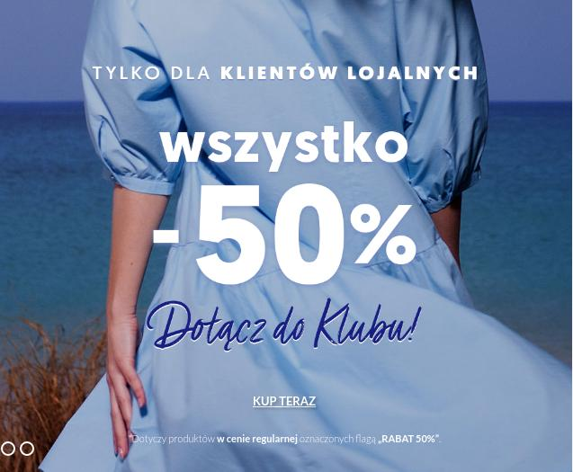 Wólczanka: 50% zniżki na cały asortyment m.in. koszule męskie, damskie - tylko dla klubowiczów