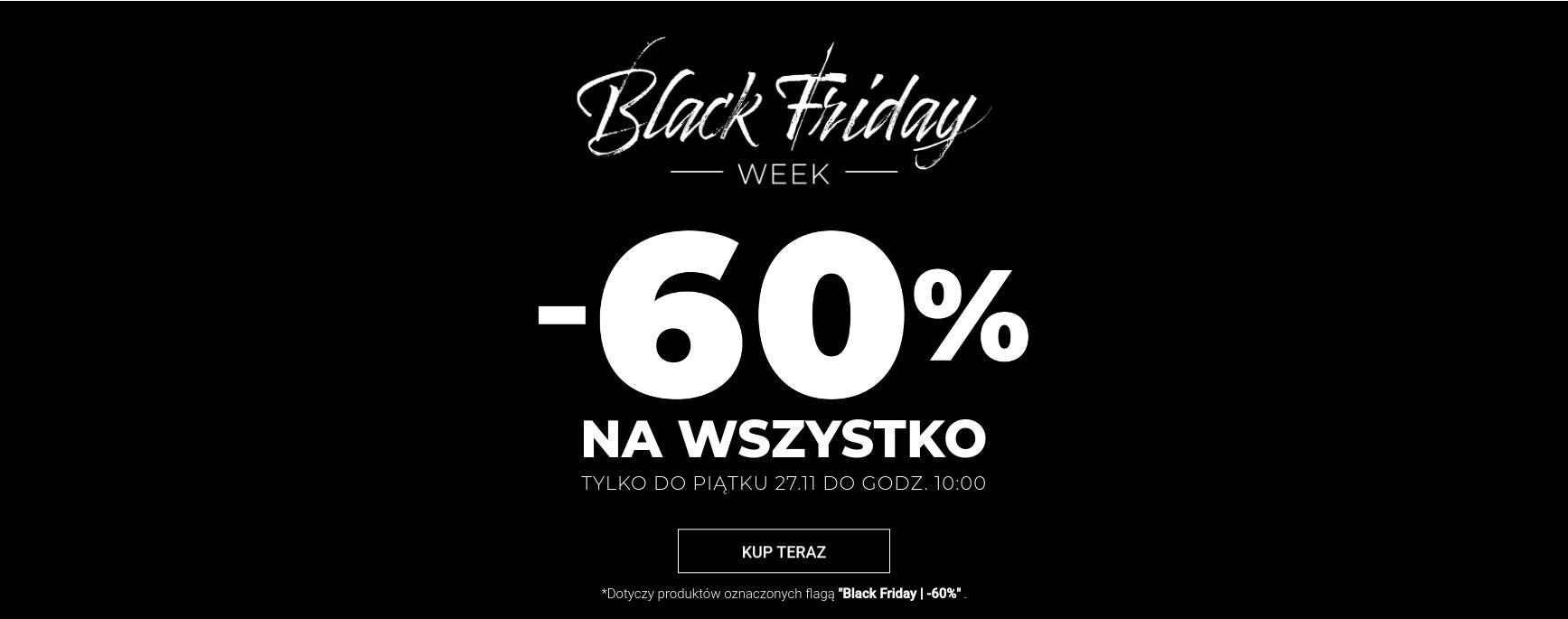 Wólczanka: Black Friday Week 60% zniżki na odzież męską
