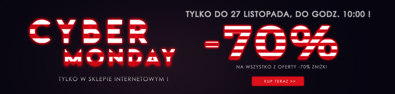 Cyber Monday Wólczanka: 70% rabatu na wszystko z oferty -70% zniżki