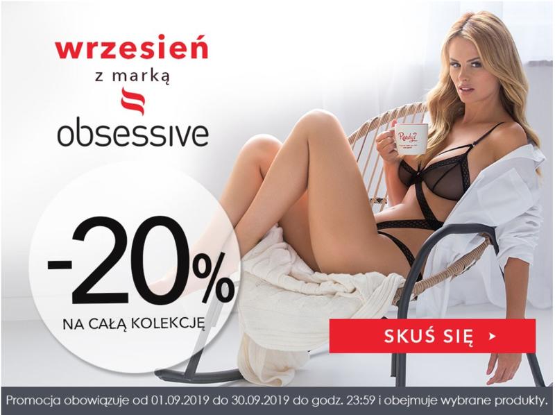 Wyprzedaże Bielizny: 20% zniżki na całą kolekcję bielizny damskiej marki Obsessive