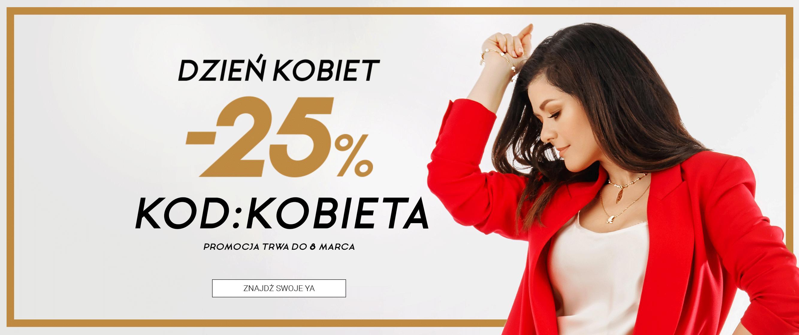 YA Cichopek: 25% rabatu na biżuterię damską - promocja na Dzień Kobiet