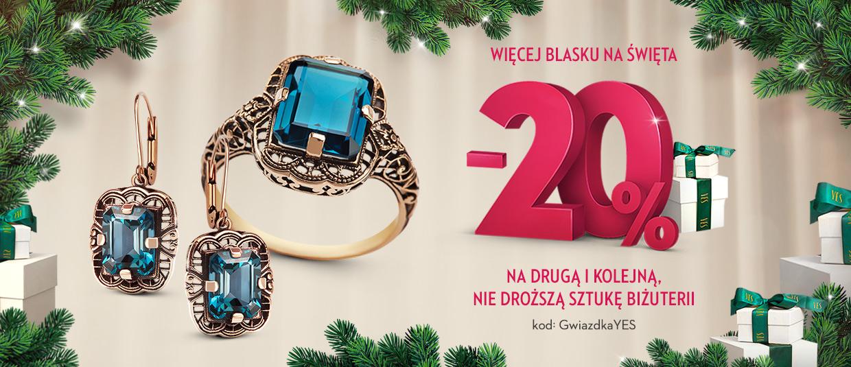 Yes: 20% rabatu na drugą i kolejną sztukę biżuterii