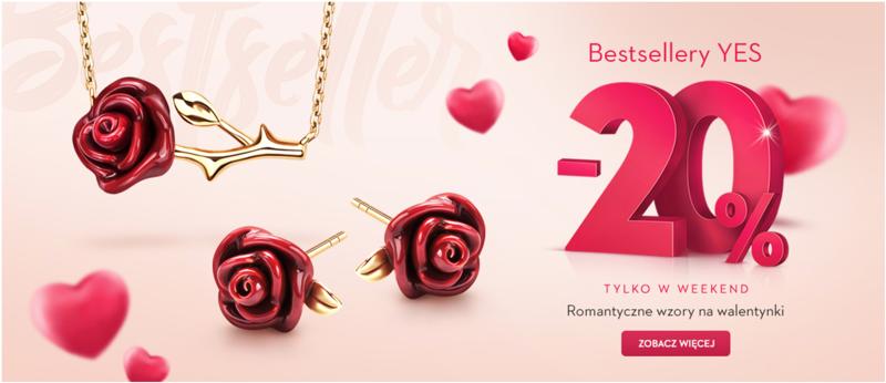 Yes: 20% zniżki na bestsellery biżuterii                         title=
